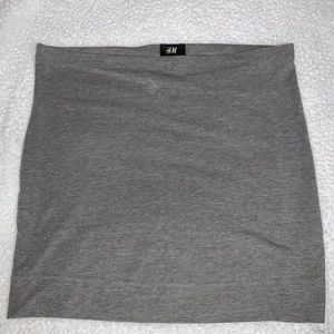H&M mini skirt Size Small Gray